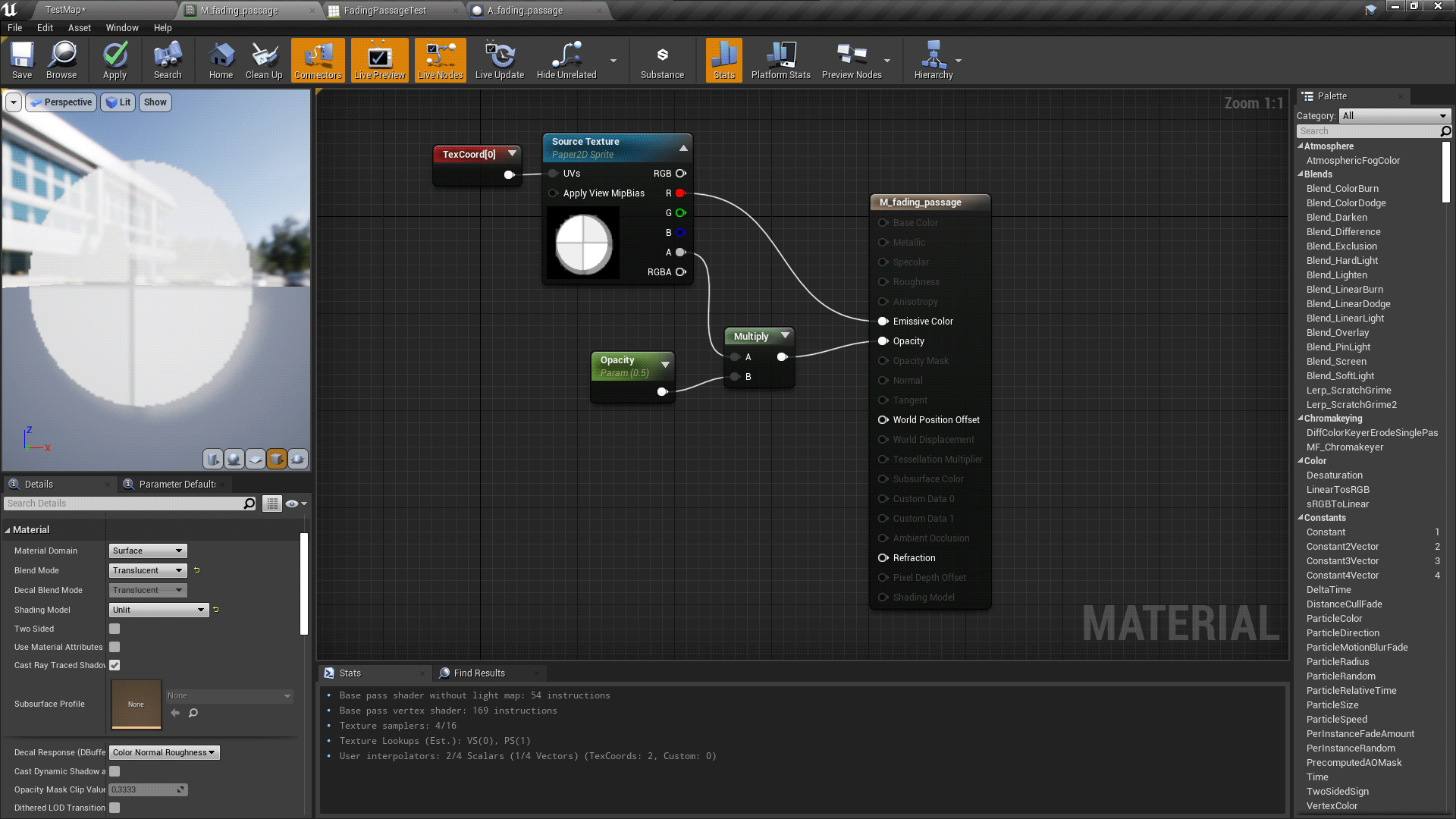 The tilemap material that will be used to create a dynamic material instance