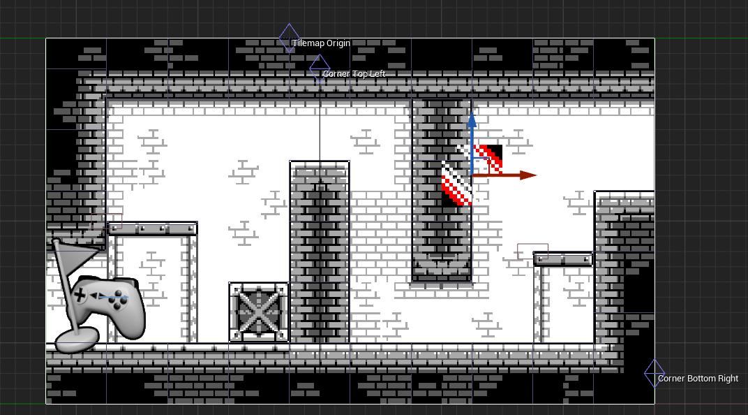 The secret passage tilemap