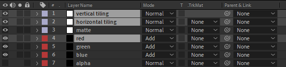 Noise After Effects layers